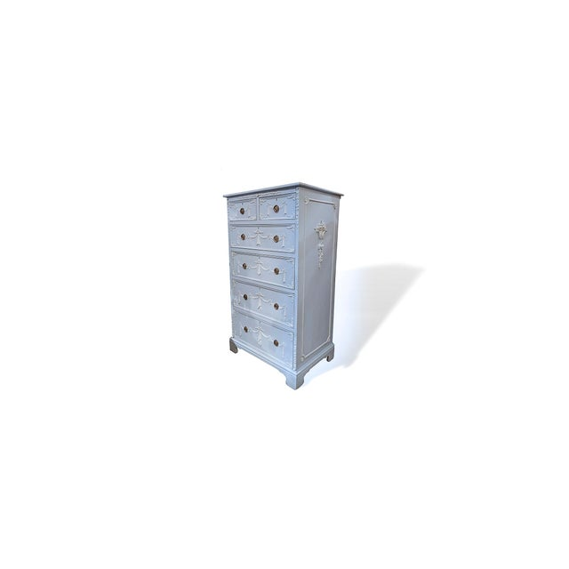 Early 20th Century Adams Style Tall Chest of Drawers, English For Sale - Image 9 of 11