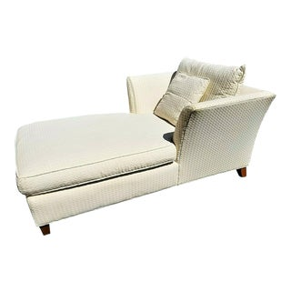 Lexington Home Oversized Beige Ivory Chaise Lounge For Sale