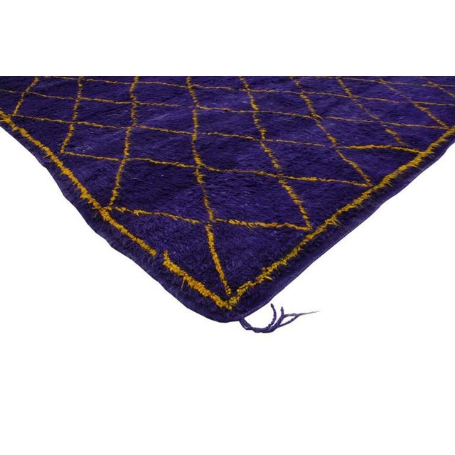 Let purple passion infuse your space. Concerted efforts run deep in this expansively woven contemporary Berber Moroccan...