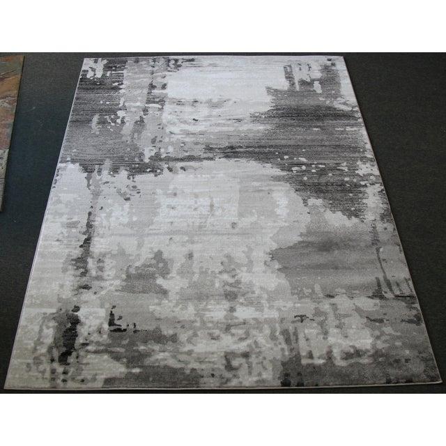 """Modern Gray Abstract Rug - 6'7""""x 9'7"""" - Image 2 of 4"""