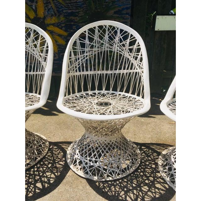 Mid-Century Modern 1960s Vintage Spun Fiberglass Patio Chairs- Set of 4 For Sale - Image 3 of 6