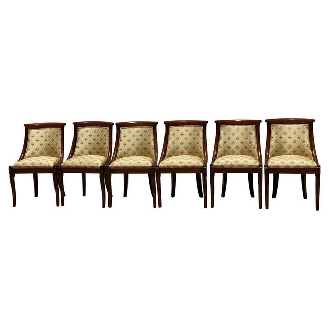 French Charles X Revival Dining Chairs - Set of 6 For Sale - Image 13 of 13