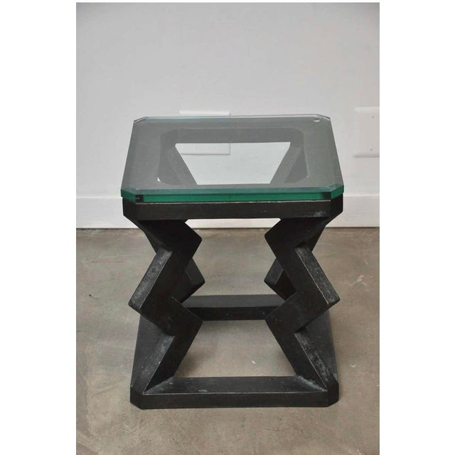 Black Gene Summers Bronze F15 Table For Sale - Image 8 of 10