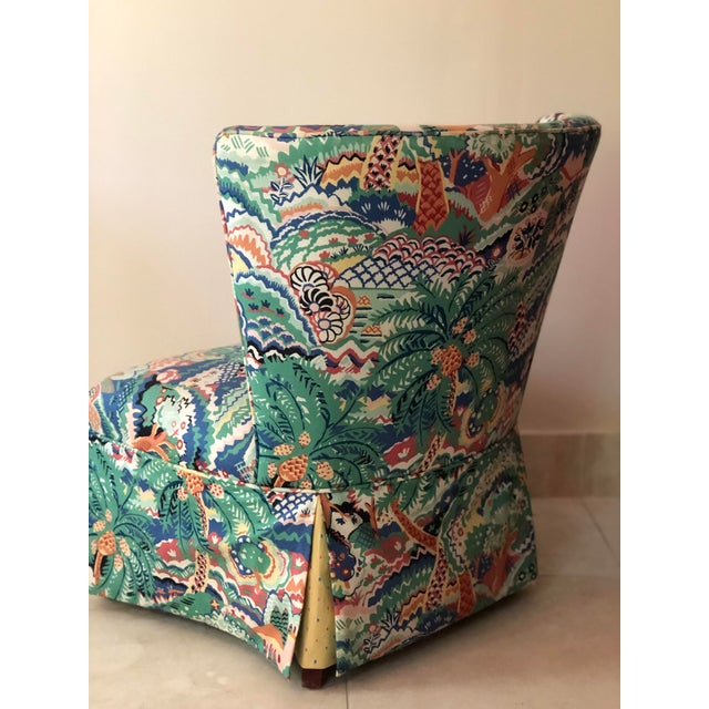 Early 21st Century Boho Chic Style Upholstered Vanity Chair For Sale - Image 5 of 13