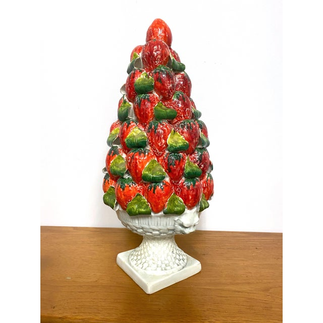 Vintage Italy Majolica Topiary Centerpiece For Sale In Charleston - Image 6 of 9
