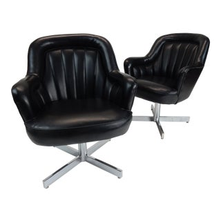 Mid-Century Modern Channel Back Chairs by Milo Baughman - A Pair