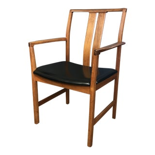 Scandinavian Teak Captains Chair For Sale