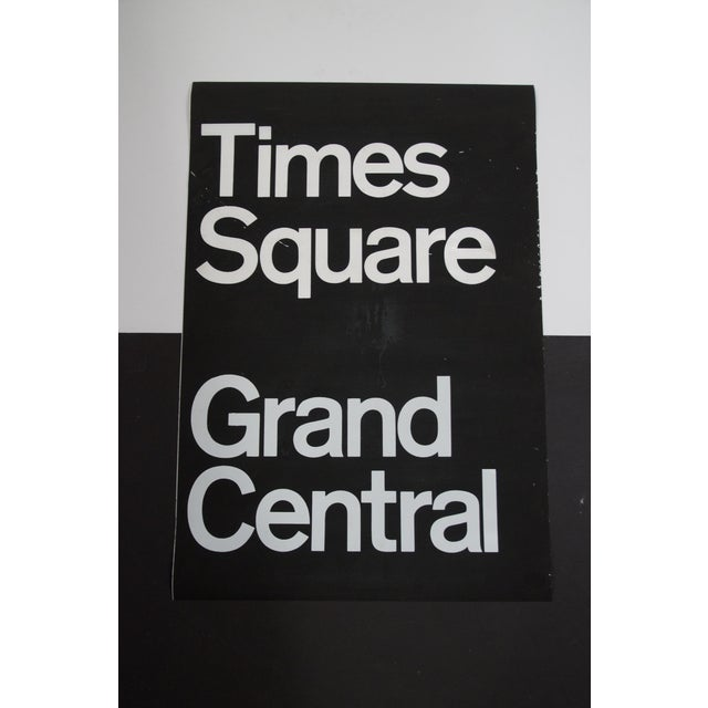 Screen Print 1980s Americana New York City Times Square Subway Sign For Sale - Image 7 of 7