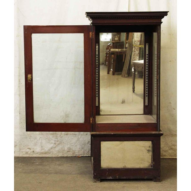 Wooden Cabinet With Mirrored Bottom For Sale - Image 4 of 8