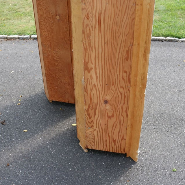 Custom Arch Panel Corner Cabinets - A Pair - Image 8 of 11