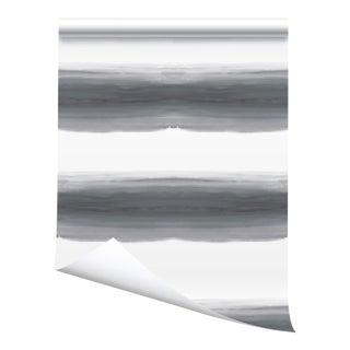"Victoria Larson Wave Grasscloth Wallpaper Sample - Storm - 10x10"" For Sale"