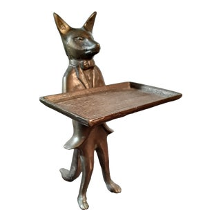 Bronze Fox Business Card Holder For Sale