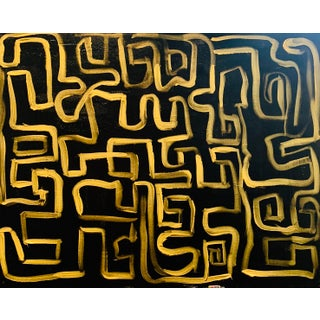 """""""Zen"""" Contemporary Abstract Acrylic Painting by Ebony Boyd For Sale"""