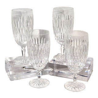 Traditional Waterford Rosemare Goblets Original Box Ice Tea Glass / Water Goblets - Set of 4 For Sale