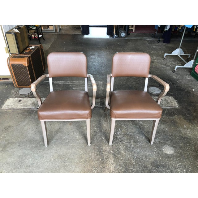 Steelcase Mid Century Industrial Arm Chairs - a Pair For Sale - Image 9 of 9