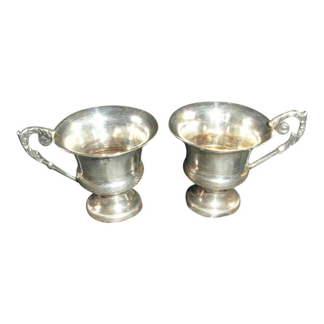1832 to 1872 Italian Silver Liquor Cups - a Pair For Sale