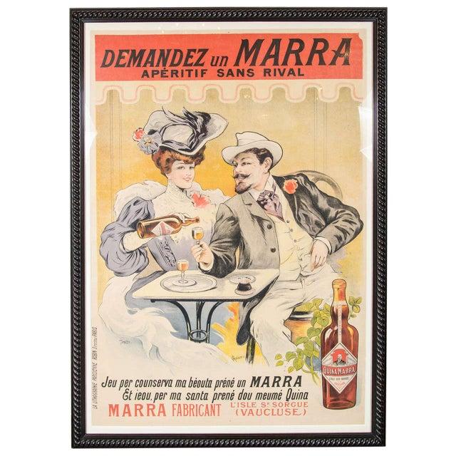 """Gorgeous Belle Époque Poster by Francisco Tamagno """"Demandez Un Marra"""" For Sale - Image 9 of 9"""
