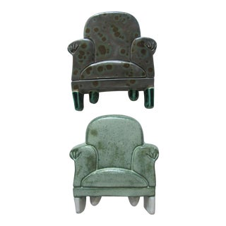 Hand-Made Chair Wall Sculptures - a Pair For Sale