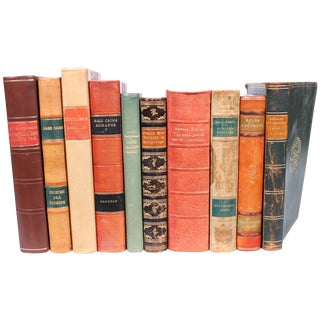 Designer Leather Books - Set of 10