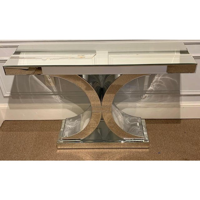French Modern Style Mirrored Console For Sale - Image 4 of 5