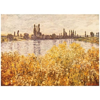 """1950s Claude Monet """"Banks of the Seine"""" Lithograph For Sale"""