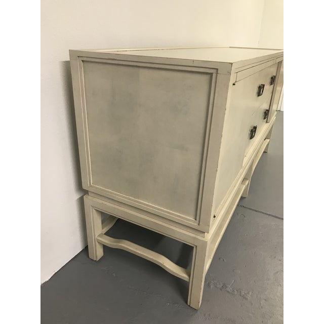 1960s 1960's Vintage White Washed Sideboard by Arthur Elrod For Sale - Image 5 of 10
