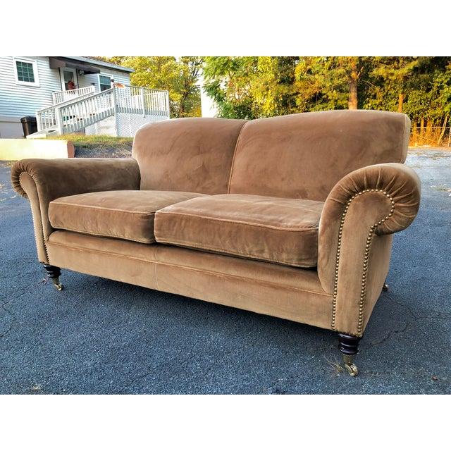 Metal George Smith Mohair Elverdon Sofa For Sale - Image 7 of 8