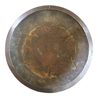 Mid Century Brutalist Hand Made Bronze Bowl For Sale