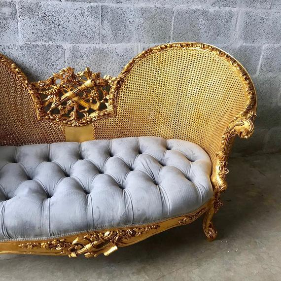 Modern French Louis XV Style Marquise Sofa For Sale - Image 4 of 7