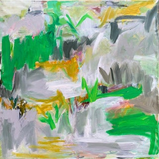 """""""Rock Garden"""" by Trixie Pitts Abstract Expressionist Oil Painting For Sale"""