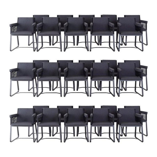 Set of 30 Kettal Landscape Dining Armchairs With Pads For Sale - Image 13 of 13