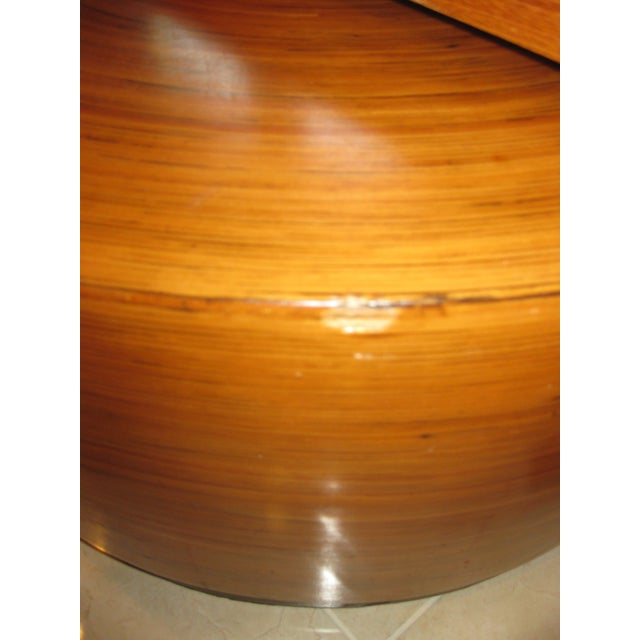 """Mid-Century Modern Round Drum Low Table 30"""" For Sale - Image 10 of 12"""