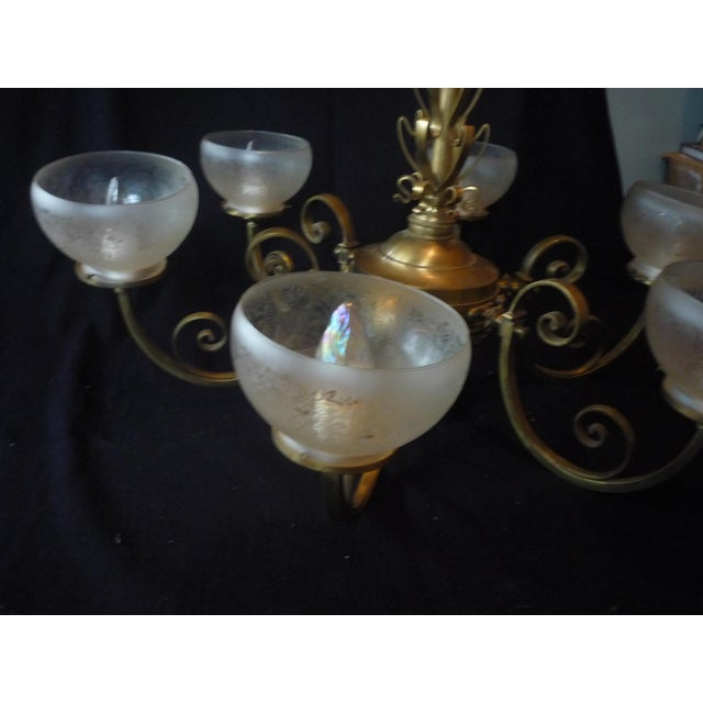 Antique French Country Chandelier - Image 10 of 10