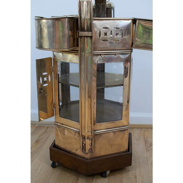 Early 20th Century Mid-Century Brass Asian Noodle Cart For Sale - Image 5 of 12