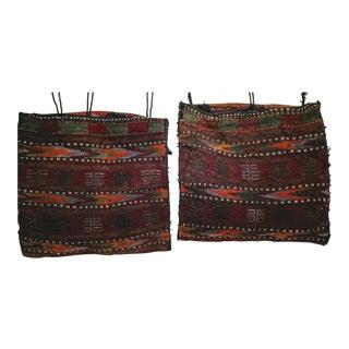 Tribal Saddlebags/Floor Cushions - a Pair For Sale