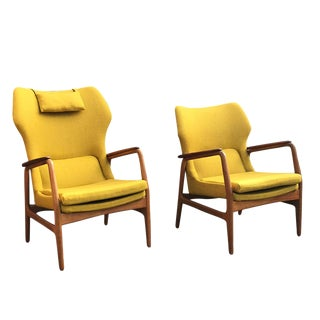 1950s Karen Easy Chair by Aksel Bender Madsen for Bovenkamp- Set of 2 For Sale