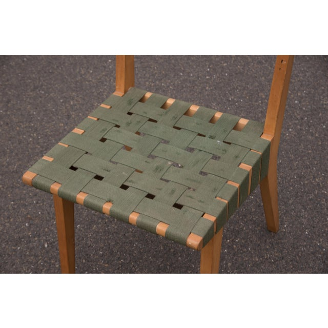 Wood 1940s Mid-Century Modern Jens Risom for Knoll Side Chair For Sale - Image 7 of 10