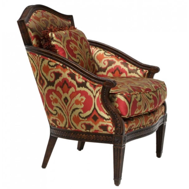 Designer Louis XVI Style Lounge Armchairs - A Pair - Image 4 of 5