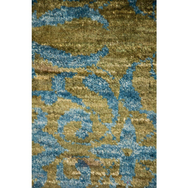 """Arts & Crafts Suzani Hand Knotted Area Rug - 8'0"""" X 10'0"""" For Sale - Image 3 of 3"""