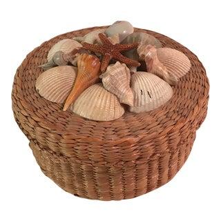 Vintage Woven Shell Box