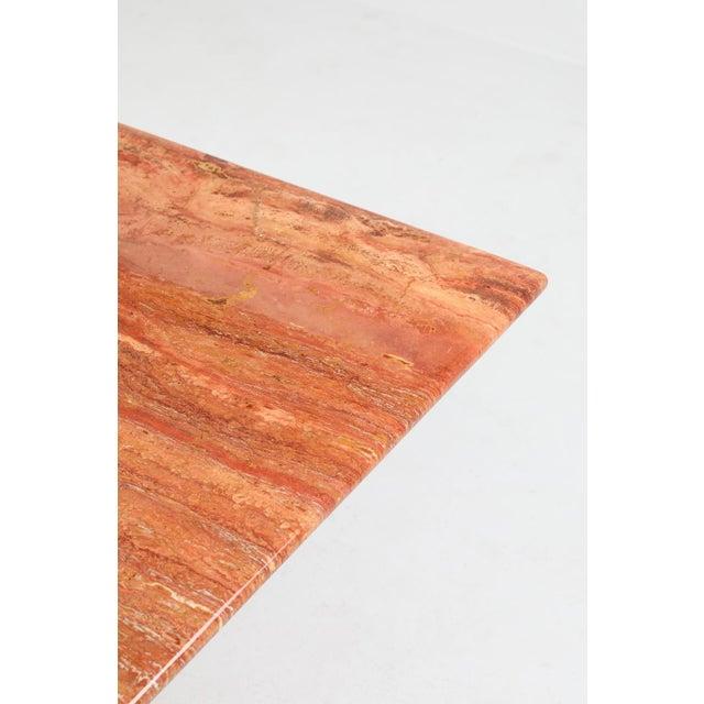 Stone Mario Bellini's Red Travertine 'Il Collonato' Dining Table For Sale - Image 7 of 11