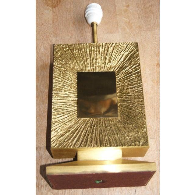 "Mid-Century Modern French Vintage Maison Bagues Dore Bronze ""Sunburst"" Table Lamp, 1970s For Sale - Image 3 of 8"