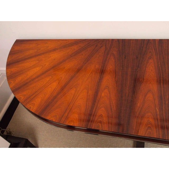 Rosewood & Steel Console For Sale In New Orleans - Image 6 of 11