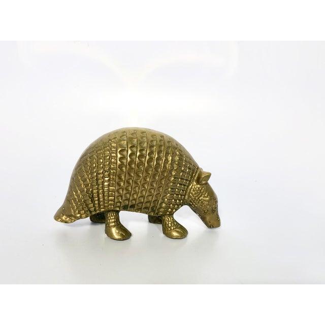 Vintage Brass Armadillo Figurine For Sale - Image 6 of 6