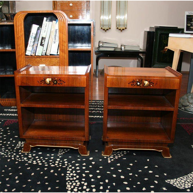 Jules Leleu Pair of French Art Deco Side Tables For Sale - Image 9 of 9