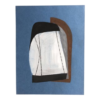 Vintage Original 1960's Bernard Segal Abstract Painting For Sale