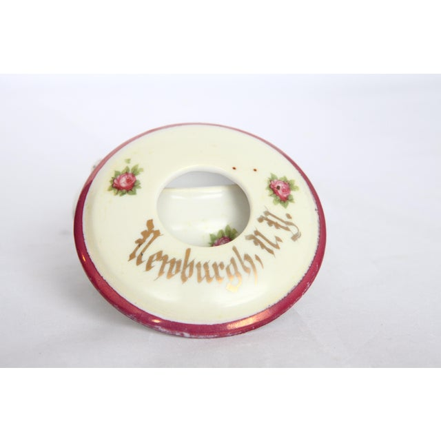 Antique Victorian Newburgh, NY Porcelain Hair Receiver - Image 6 of 11