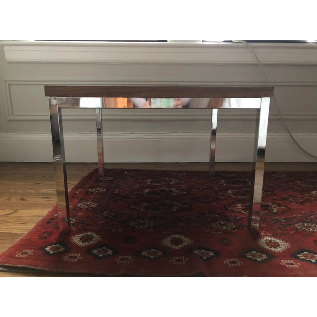 Mid-Century Modern Knoll-Style Chrome Plate & Laminate Side/Coffee Table For Sale - Image 3 of 5