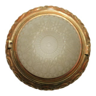 Solid Bronze Dome Ceiling or Wall Light Fixture For Sale