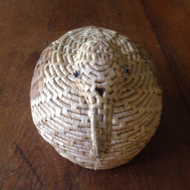 Vintage Natural Wicker/ Straw Bird Basket - Image 8 of 11